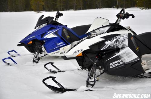 2014 Arctic Cat XF 7000 Cross Country Sno Pro and Yamaha Viper XTX
