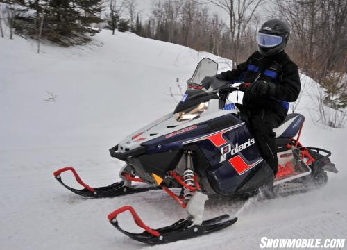 Polaris 800 Rush Pro-R with Split Rail Skis