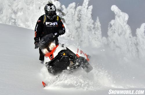 2014 Ski-Doo Summit X Action Downhill