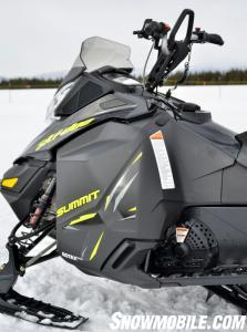 2014 Ski-Doo Summit X Footwells