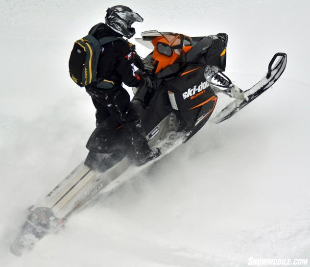 2014 Ski-Doo Summit Sport 800R Action Climbing