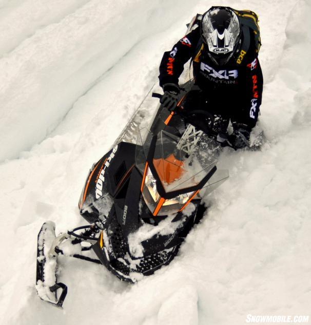 2014 Ski-Doo Summit Sport 800R Action Downhill