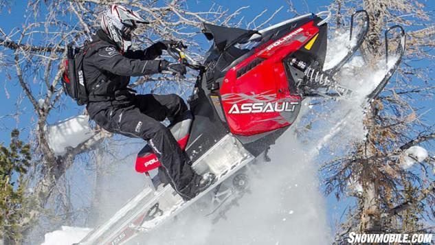 2014 Polaris 800 RMK Assault Action Jump
