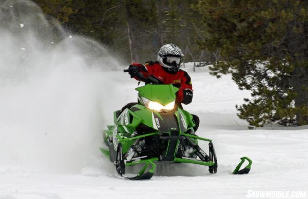 2014 Arctic Cat ZR 8000 RR Action Cornering