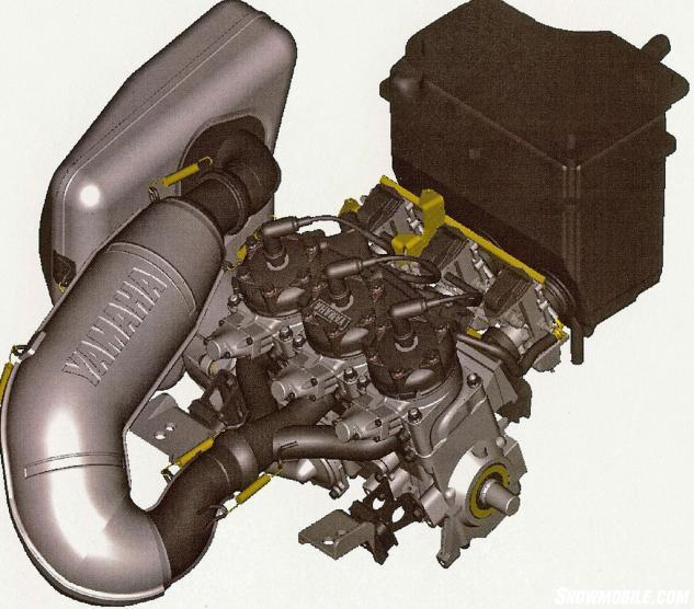 2002 Yamaha SX Viper Two-Stroke Engine