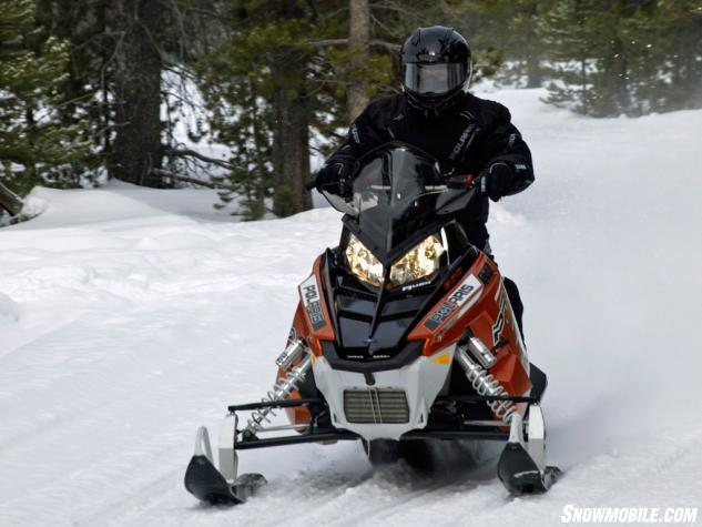 2014 Polaris 800 Rush Pro-R Action Front