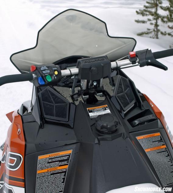 2014 Polaris 800 Rush Pro-R Cockpit