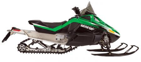 The carryover Twin Spar chassis and AWS VII front suspension highlight Arctic Cat�s fan-cooled F570 for 2014.