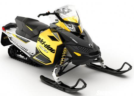 Ski-Doo's fan-cooled MXZ Sport 550 offers the most rear suspension travel at 15-inches.