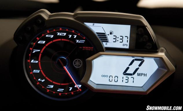 2014 Yamaha Apex XTX Gauges