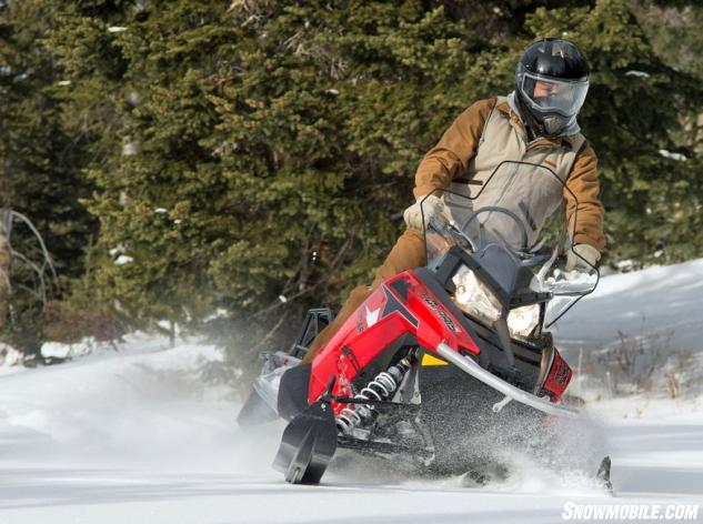 2014 Polaris 600 Indy Voyager Action