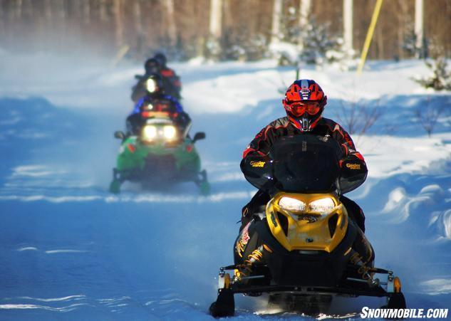 Elk Lake Ontario Snowmobiling