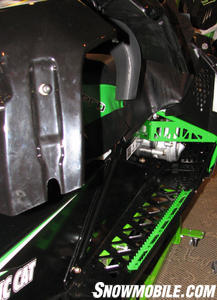 The 600 Sno Pro running boards feature foot grippers.