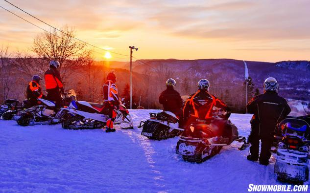 Algoma Snowmobiling Sunset