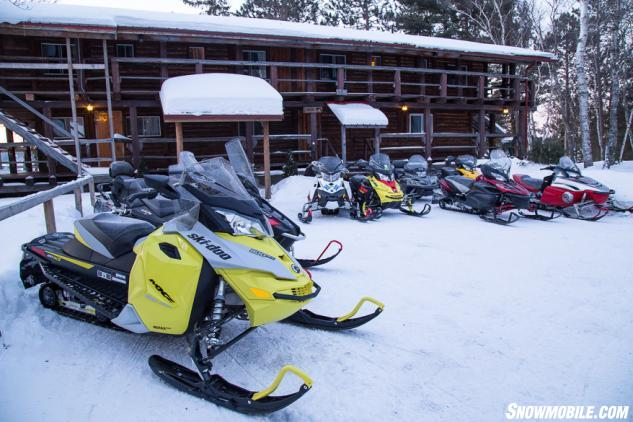 Sportsmans Lodge Snowmobile Parking