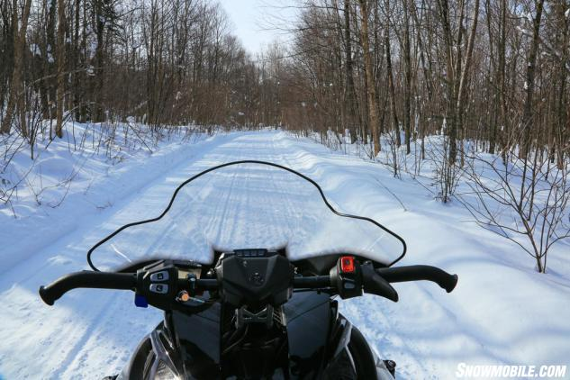Ontario Snowmobile Trail Yamaha Cockpit