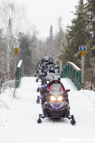 Algoma Snowmobile Bridge