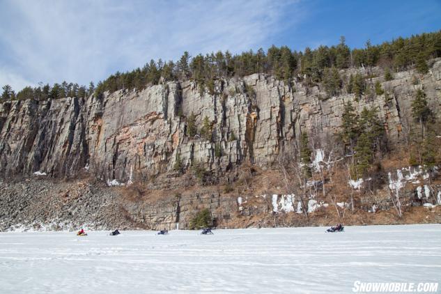 Algoma Snowmobiling Cliffs
