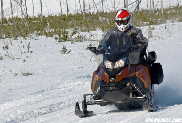 Although Designed As The Top Of Line Two Up Touring Sled New Grand SE 1200 4 TEC Could Be A Serious Choice For Long Distance Solo Rides