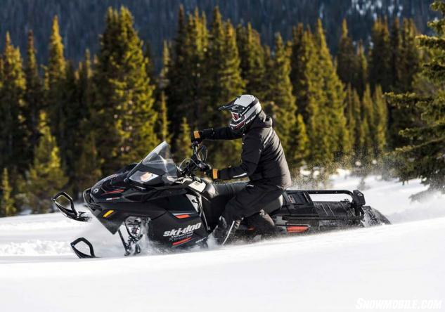 "The ""wild"" side of Ski-Doo's Expedition backcountry utility models includes the Expedition Xtreme powered with an 800cc Rotax E-TEC two-stroke twin."