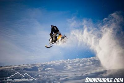 Arctic Cat Snowmobiles Jumping
