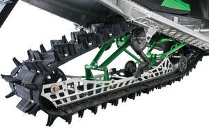 M-Series sleds shed weight with this lighter skidframe. Note the new Power Claw deep snow track.