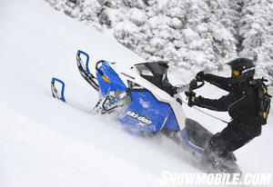 When it comes to deep powder, the Ski-Doo Summit X reigns with its 800 PowerTek twin and extra length 163-inch track.