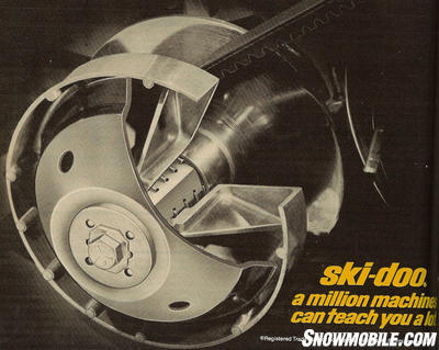 Ski-Doo's Square Shaft drive clutch replaced splines with a squared off shaft that was said to offer improved engagement.
