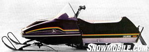 Deere�s Liquifire showcased refined snowmobile handling and ride.