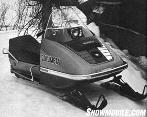 Nearing the end of its term as a snowmobile brand, the 1974 Columbia revealed smoother contours and more refinements in engine and suspension choices.