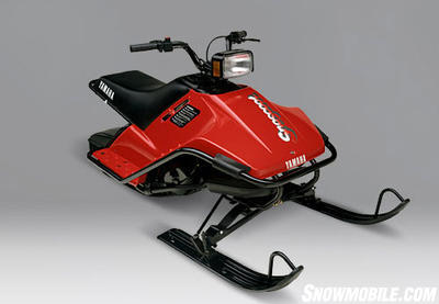 Back in 1988 Yamaha unsuccessfully tried to bring new people into the sport with the 80cc SnoScoot.