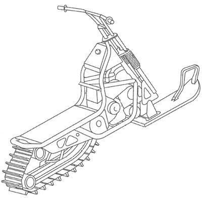 snowmobile coloring pages - photo#29