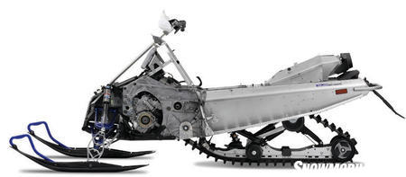 We expect future Yamaha's will ride on this lightweight chassis.