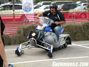 The Lucas Oil Test Track gave people a chance to try out some new sleds.