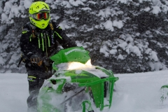 The biggest surprise of the day was how well the Arctic Cat M8000 worked despite the weight disadvantage of the snowmobile.  The 3 inch Power Claw really shined on this particular day.
