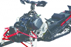 The motor was purpose built for XF ProCross ZR Thundercat 9000 where panels, exhaust, and engine mounts were specific to the T-Cat. This is ProCross amplified.