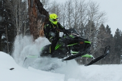 With power to play in the powder and to launch like a two stroke when the RPMs hit go-fast mode, the XF 9000 High Country will kick up its nose.