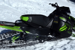 With Arctic Cat's mountain suspensions -- front and rear -- choice of tracks, PowerClaw or Backcountry X, the High Country XF 9000 is a perfectly-blended turbo crosser.