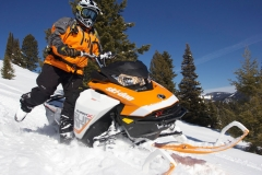 Setting a counter-steer stance to roll the Summit X 850 into a mountainside is effortless, easy and simple. Ski-Doo claims this Summit is agile. Yes, that is a true statement. But, are you quick enough to keep up with its lively and powerful attitude?