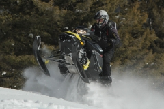 With its grunt-filled 850 twin, boosted fuel-injection, pDrive primary clutch, and deep-lug sneaker at the back end, the Summit X like to launch, while remaining stable. But be fast, as this sled reacts to driver input with zero hesitation.