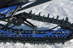 The 162-inch long PowerClaw three-inch paddle track seizes quite well, the Sidewinder's power. In concert, the Yamaha MTN rear skid with Fox Float 3 shocks, handles the junk and the powder with complete confidence.