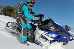 "Can you set up a wrong foot forward downhill sidehill turn? Yes.  Yamaha spent almost three years working with Arctic Cat to assure the ProClimb chassis is robust, while being nimble at ""mountaineering."""