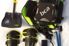 A prepared backcountry rider should have a, transceiver, airbag pack, shovel, probe, and other protective gear.  They should also ensure that the people they ride with also have the same gear.