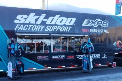 Racing is a great business to be in. Here Ski-Doo with Makita Tools had plenty to show and sale.