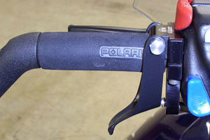 Adding a left hand throttle adds versatility in deep s now conditions. (Image courtesy of Lefty's DTC)