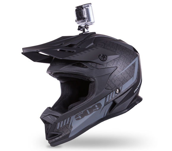 509 Altitude Helmet Black with GoPro Mount