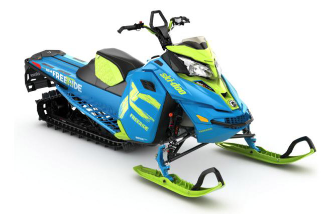 Look for bright new colors from Ski-Doo's Freeride series, but no 850 twins — yet!