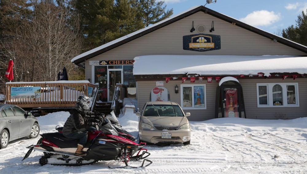 Frosty Pint Pub Snowmobiles