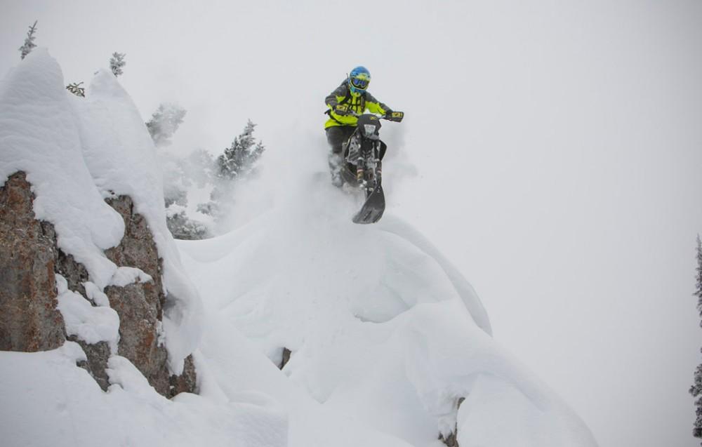KLIM Timbersled Snowbike Action 3