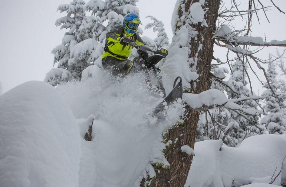 KLIM Timbersled Snowbike Action 2